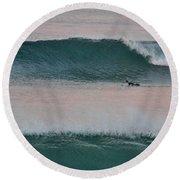 Impressionist Surfing  Round Beach Towel