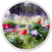 Impressionistic Photography At Meggido 2 Round Beach Towel