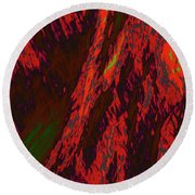 Impressions Of A Burning Forest 10 Round Beach Towel