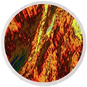 Impressions Of A Burning Forest 11 Round Beach Towel