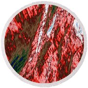 Impressions Of A Burning Forest 12 Round Beach Towel