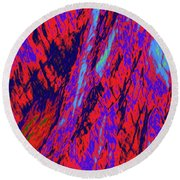 Impressions Of A Burning Forest 16 Round Beach Towel