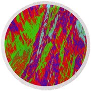 Impressions Of A Burning Forest 17 Round Beach Towel