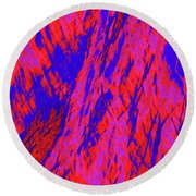 Impressions Of A Burning Forest 20 Round Beach Towel