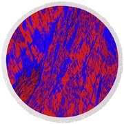 Impressions Of A Burning Forest 21 Round Beach Towel