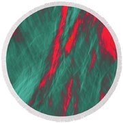 Impressions Of A Burning Forest 4 Round Beach Towel