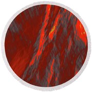 Impressions Of A Burning Forest 6 Round Beach Towel