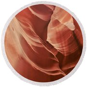 Impressions Of Antelope Canyon 2 Round Beach Towel