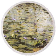 Impressions Of Giverny Round Beach Towel