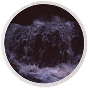 In A Bahian Waterfall Round Beach Towel