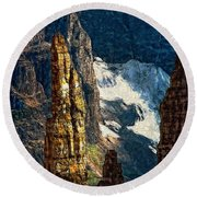 In A High Place Impasto Round Beach Towel