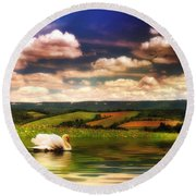 In A Land Far Away Round Beach Towel