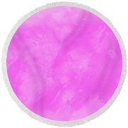 In A Pink Mood Round Beach Towel