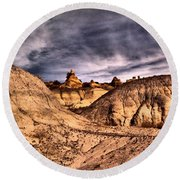 In A Time Gone By Round Beach Towel