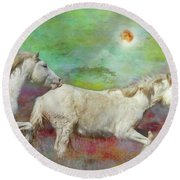 In Another Time Another Place... Round Beach Towel
