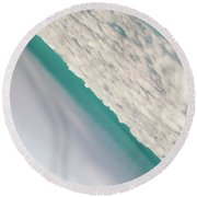 In Between Of Day And Dream Round Beach Towel