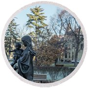 In Celebration Of Family Notre Dame 2 Round Beach Towel