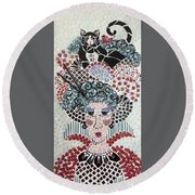 In Dreams Of Ricky Bobbie And Me In China Round Beach Towel