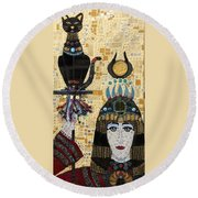 In Dreams Of Ricky Bobbie And Me In Egypt Round Beach Towel