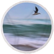 In Flight Round Beach Towel
