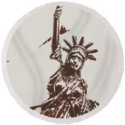 In Liberty Of New York Round Beach Towel