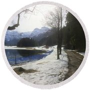 In Nature Long 1 Round Beach Towel