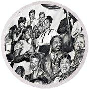 In Praise Of Jazz IIi Round Beach Towel