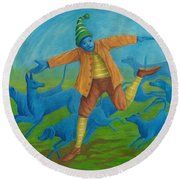 In Pursuit Of Anything. Round Beach Towel