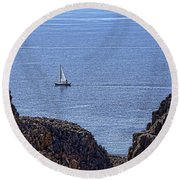 In Search Of Atlantis-3 Round Beach Towel