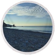 In Search Of Atlantis-5 Round Beach Towel