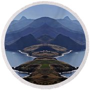 In Search Of Atlantis Round Beach Towel