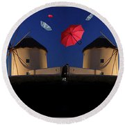 In Search Of Beauty 2 Round Beach Towel
