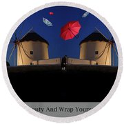 In Search Of Beauty Round Beach Towel