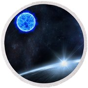 in Space Round Beach Towel