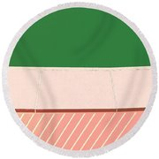 In Stitches Round Beach Towel