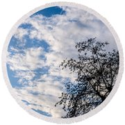 In That Quiet Earth - At Sunset Round Beach Towel