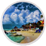 In The Cloud Round Beach Towel