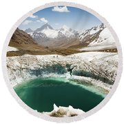 In The Depth Of Pamir Round Beach Towel