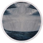 In The Depths Of Truth Round Beach Towel