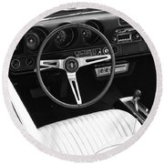 In The Driver's Seat 2 Round Beach Towel