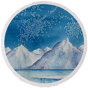 In The Far North Round Beach Towel