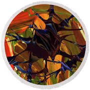 In The Forward Mind Abstract Round Beach Towel