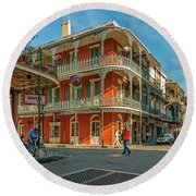 In The French Quarter - 3 Round Beach Towel