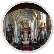 In The Gothic-baroque Church Round Beach Towel