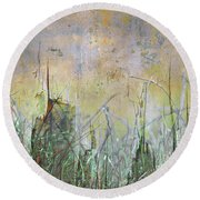 In The Grass Round Beach Towel