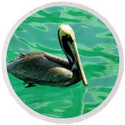 In The Green Zone Round Beach Towel