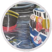 In The Harbour Round Beach Towel