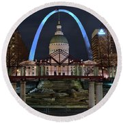 In The Heart Of St Louis Round Beach Towel