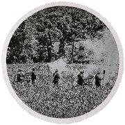 In The Heat Of Battle - Gettysburg Pa Round Beach Towel