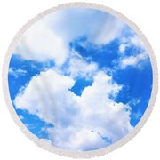 In The Heavens Above Round Beach Towel